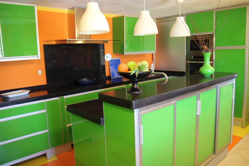 cocina verde nuevo huvi