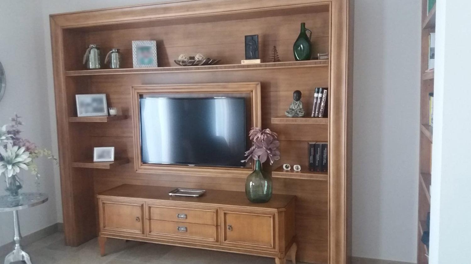 Mueble de salón de madera de cerezo